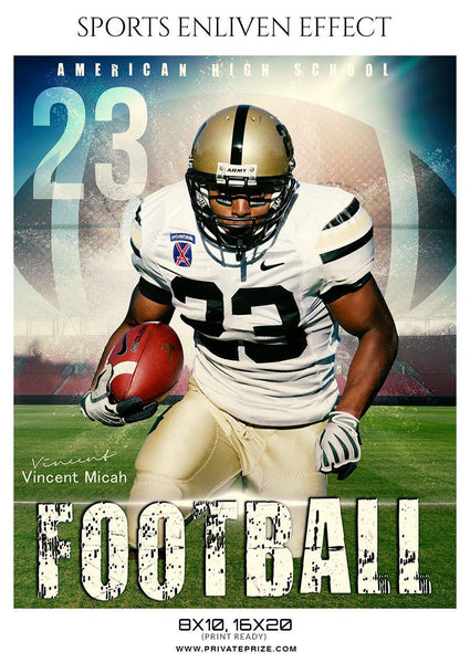 Vincent Micah - Football Sports Enliven Effect Photography Template