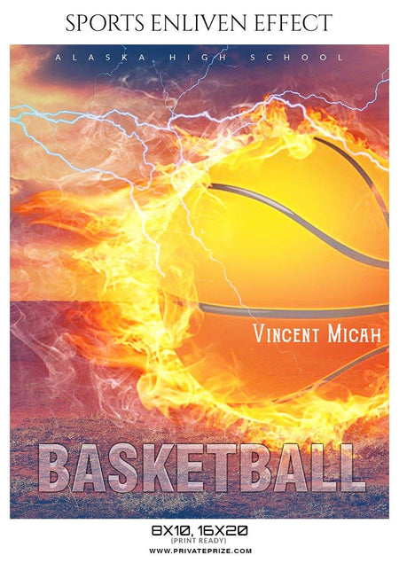 Vincent Micah - Basketball Sports Enliven Effect Photography Template - Photography Photoshop Template