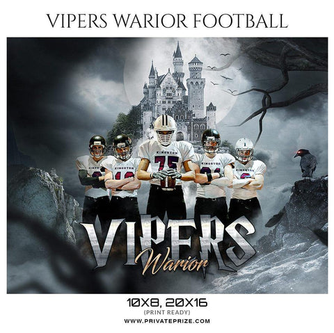 Vipers Warior - Football Themed Sports Photography Template