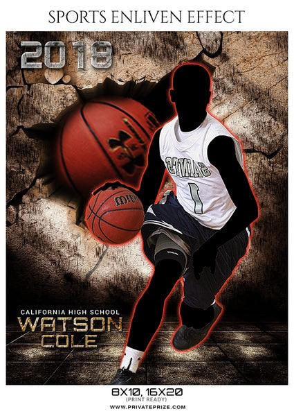 Watson Cole - Basketball Sports Enliven Effects Photography Template