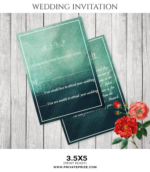 J & A Wedding Invitation Card - Photography Photoshop Templates