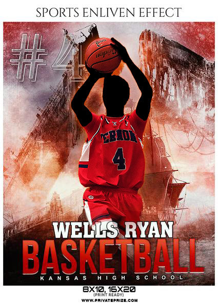 Wells Ryan - Basketball Sports Enliven Effects Photography Template