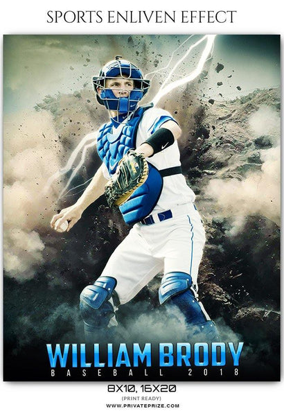 William Brody - Baseball Sports Enliven Effects Photography Template - Photography Photoshop Template