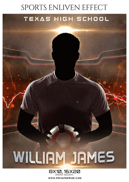 William  James - Soccer Sports Enliven Effects Photography Template