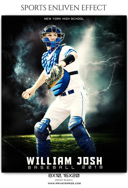 William Josh - Baseball Sports Enliven Effects Photography Template - Photography Photoshop Template