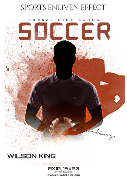 Wilson King - Soccer Sports Enliven Effects Photoshop Template