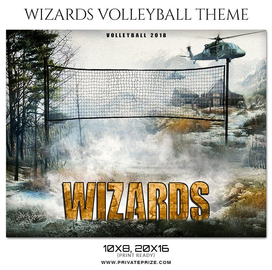 Wizards - Volleyball Themed Sports Photography Template