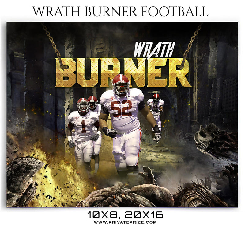 Wrath Burner Football Themed Sports Photography Template