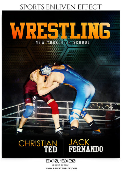 Christian Ted  Wrestling-Sports Enliven Effect - Photography Photoshop Template