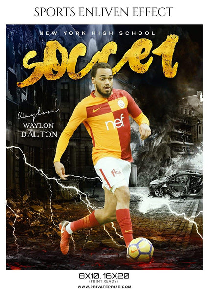 Waylon Dalton - Soccer Sports Enliven Effects Photography Template