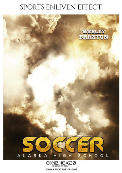 Wesley Braxton - Soccer Sports Enliven Effects Photography Template