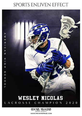 Wesley Nicolas - Lacrosse Sports Enliven Effects Photography Template