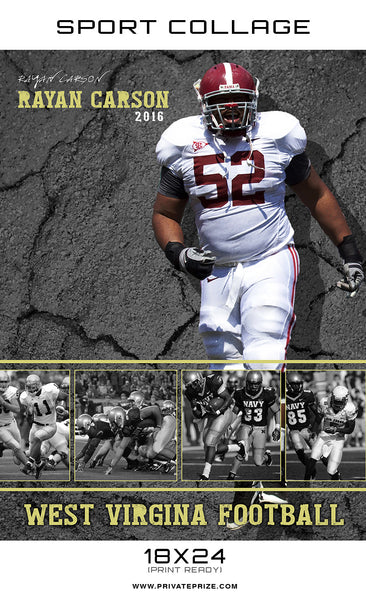 West Virginia Sports - Enliven Effect - Photography Photoshop Templates