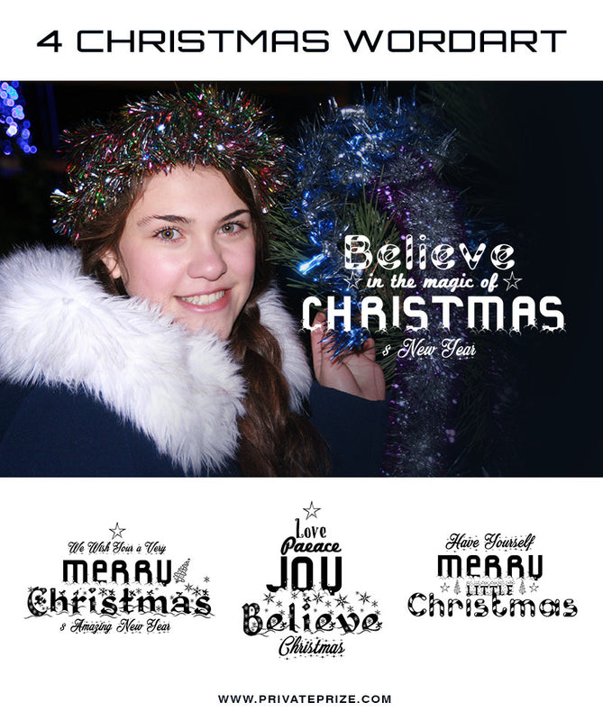 Wordart Magic of Christmas - Photography Photoshop Templates