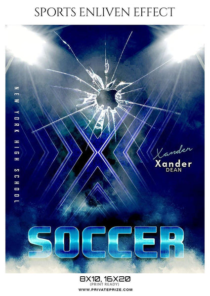 Xander Dean - Soccer Sports Enliven Effect Photography Template