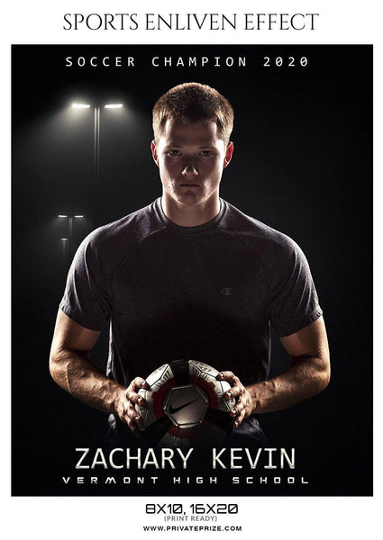 Zachary Kevin - Soccer Sports Enliven Effect Photography Template