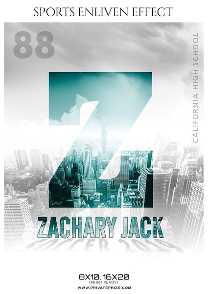 Zachary Jack - Soccer Sports Enliven Effects Photography Template