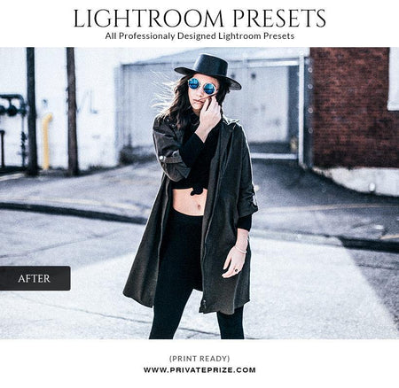 Blue shadow - LightRoom Presets Set - Photography Photoshop Template