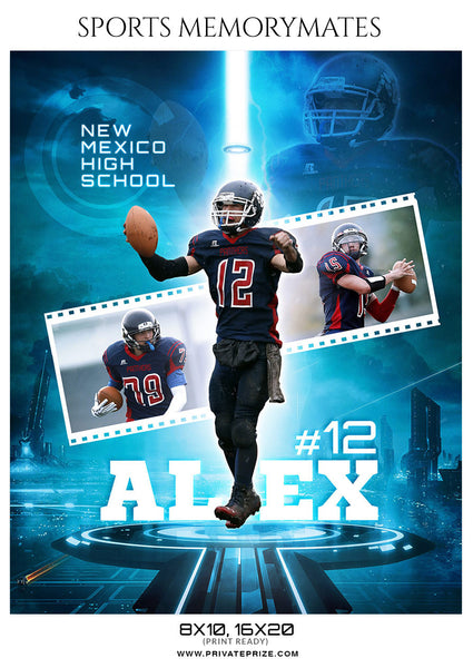ALEX FOOTBALL SPORTS MEMORY MATE - Photography Photoshop Template