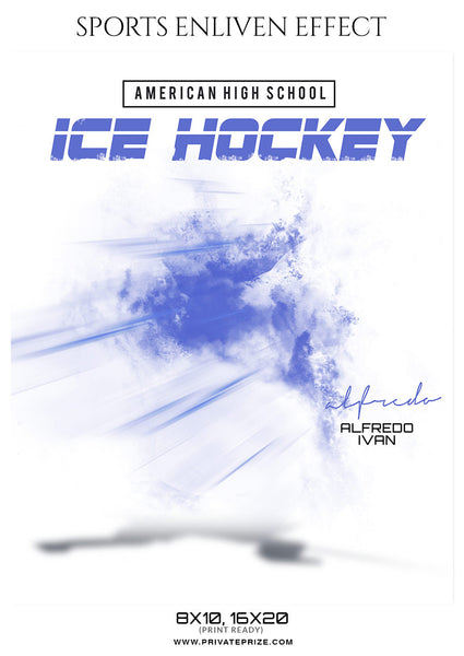 Alfredo Ivan Ice Hockey Sports  Enliven Effects Photoshop Template