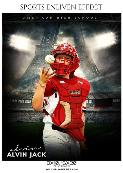 Alvin Jack - Baseball Sports  Enliven Effects Photography Template