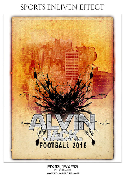 Alvin Jack- FOOTBALL SPORTS PHOTOGRAPHY - Photography Photoshop Template