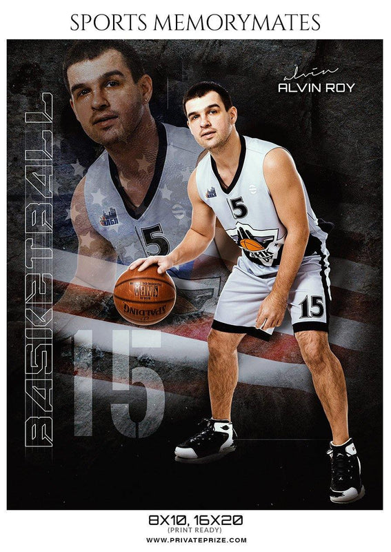 Alvin Roy Basketball Memory Mate Photoshop Template