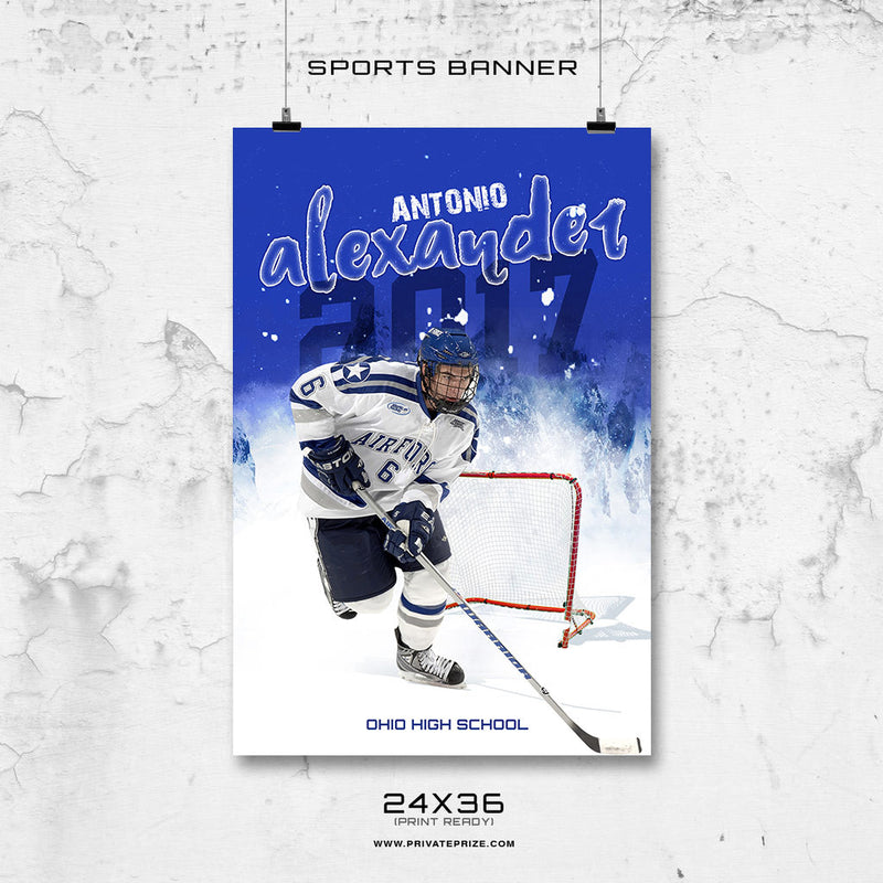 Antonio Alexander-Icehockey- Enliven Effects Sports Banner Photoshop Template - Photography Photoshop Template