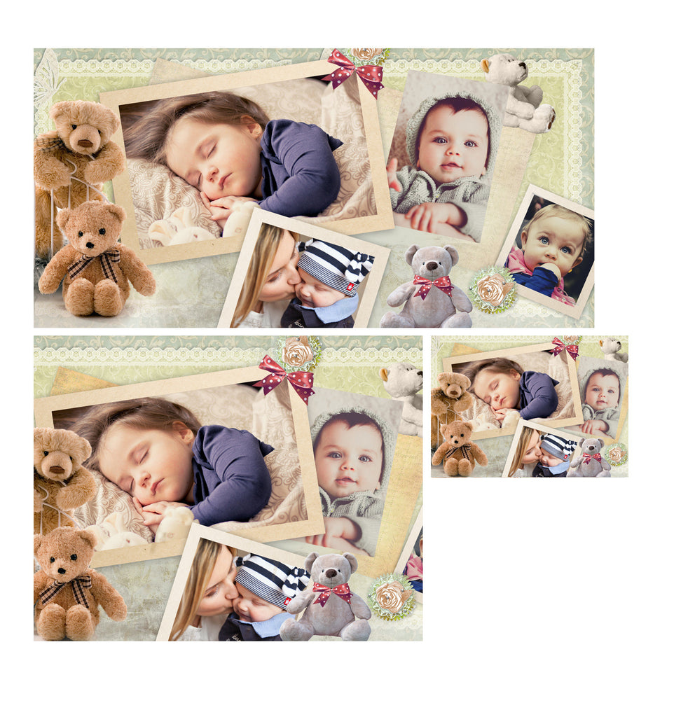 baby collage set little one photography photoshop templates