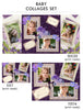 Baby Collage Set - Pretty Purple - Photography Photoshop Template