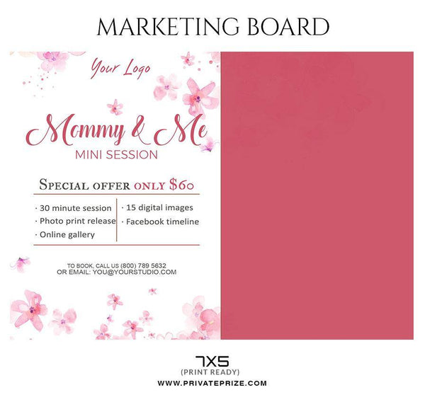 Mommy $ Me - Mother's Day Marketing Board Flyer Templates