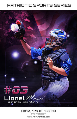 Baseball - Sports Patriotic Series - Photography Photoshop Templates