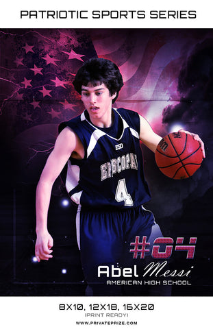 Basketball - Sports Patriotic Series - Photography Photoshop Templates