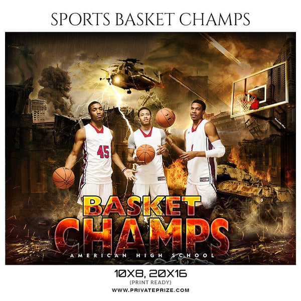 Basket Champs - Sports Themed  Photography Template