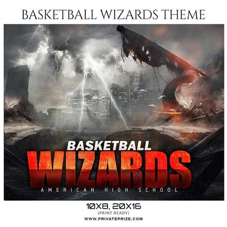 Basketball Wizards - Sports Themed  Photography Template