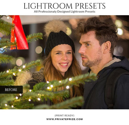 Christmas magical - LightRoom Presets Set - Photography Photoshop Template