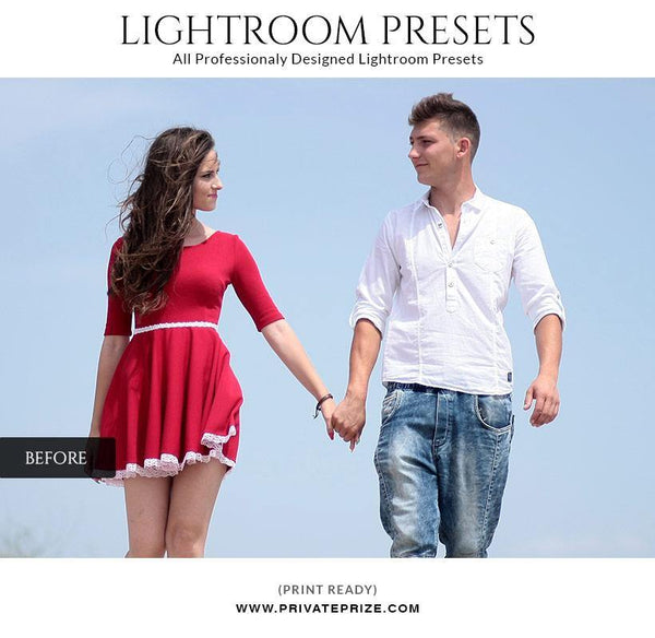 Sepia effect - LightRoom Presets Set - Photography Photoshop Template