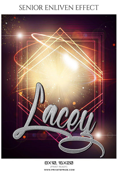 Lacey - Senior Enliven Effect Photography Template - Photography Photoshop Template