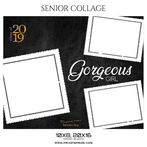 Tamara Roy - Senior Collage Photography Template - Photography Photoshop Template