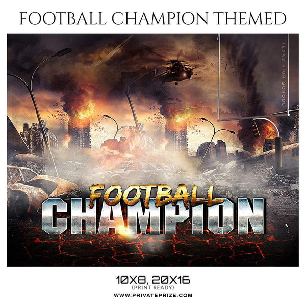 Football Champion - Themed Sports Photography Template - Photography Photoshop Template