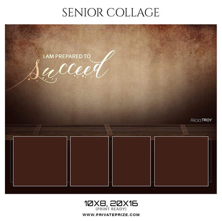 Alicia Troy - Senior Collage Photography Template - Photography Photoshop Template