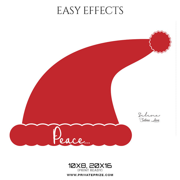 Selena Leon - Christmas Easy Effects - Photography Photoshop Template