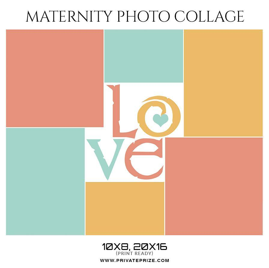 Love Maternity - Photo Collage Template