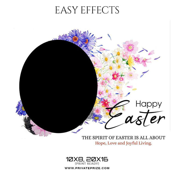 Easter - Easy Effect - Photography Photoshop Template