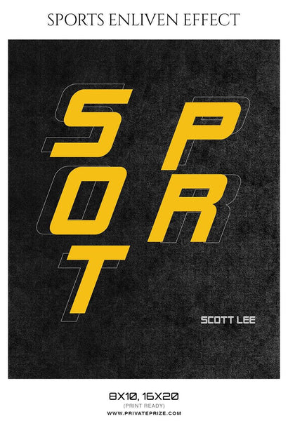 Scott lee - Football Sports Enliven Effect Photography Template