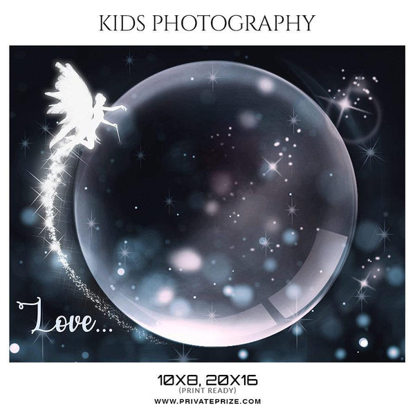 Love - Kids Photography Photoshop Template - Photography Photoshop Template