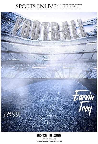 Earvin Troy - Football Sports Enliven Effect Photography Template - Photography Photoshop Template