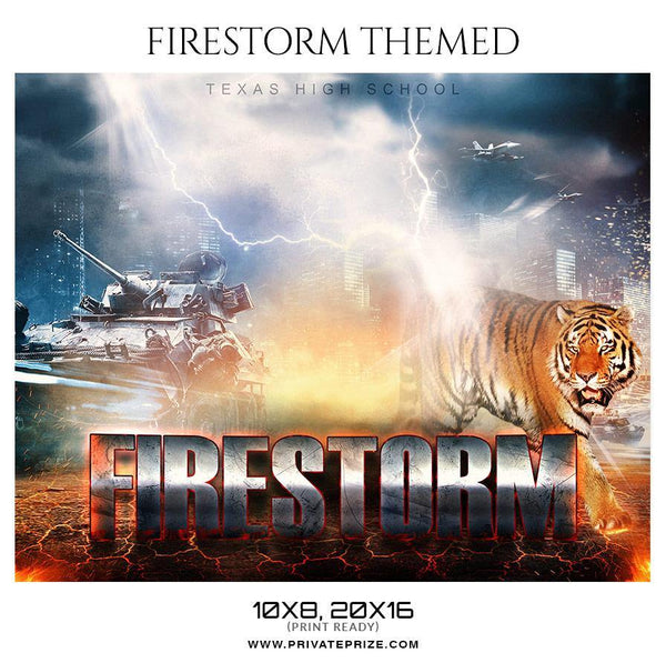 Firestorm - Basketball Theme Sports Photography Template - Photography Photoshop Template