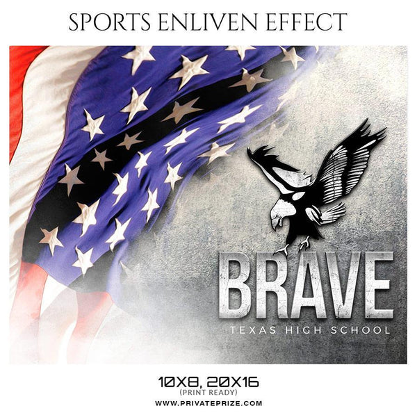 Brave - Football Sports Enliven Effect Photography Template