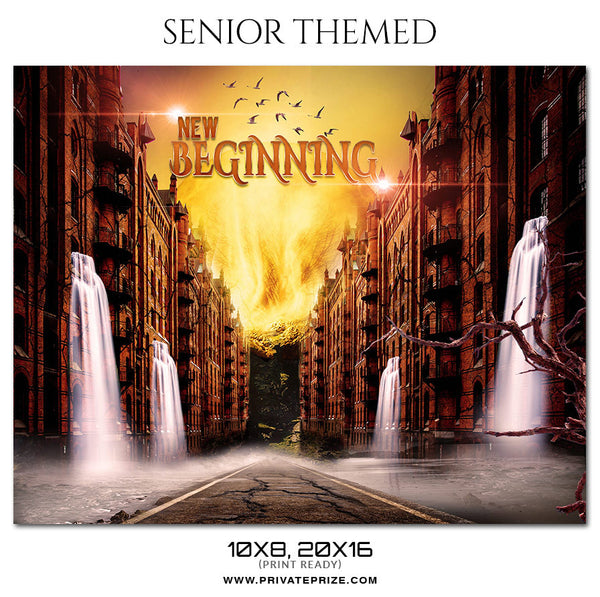 New Beginning - Senior Themed Photoshop Template - Photography Photoshop Template